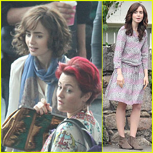 Lily Collins: 'Love, Rosie' Airport Scene with Jaime Winstone!