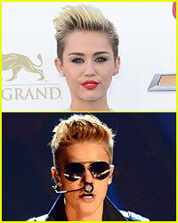Miley Cyrus & Justin Bieber Hang Out in Hollywood!