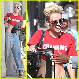 Miley Cyrus Loves Channing at 'Jimmy Kimmel Live'!