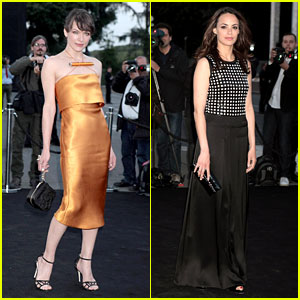Milla Jovovich & Berenice Bejo: Armani's One Night Only!