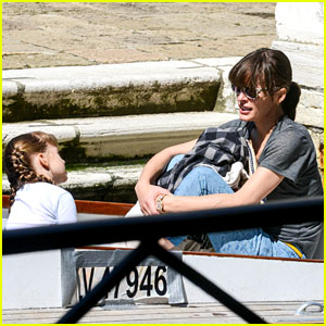 Milla Jovovich: Gondola Ride in Venice with Ever!
