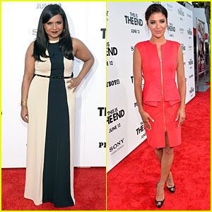 Mindy Kaling & Jessica Szohr: 'This Is The End' Los Angeles Premiere!