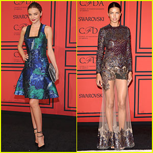 Miranda Kerr & Adriana Lima - CFDA Fashion Awards 2013 Red Carpet