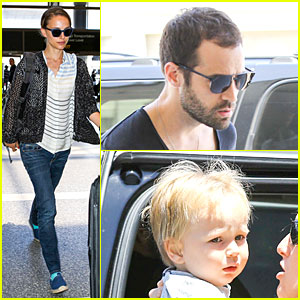 Natalie Portman & Benjamin Millepied: LAX Departure After Dance Project Gala!
