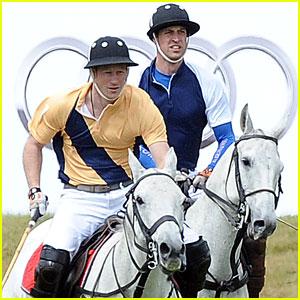 Prince William & Harry: International Audi Polo Match