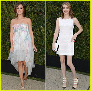 Rachel Bilson & Emma Roberts: Chanel NRDC Dinner!