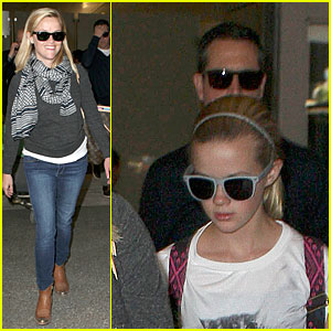 Reese Witherspoon & Ava: LAX Arrival After Paris & Africa Vacation!