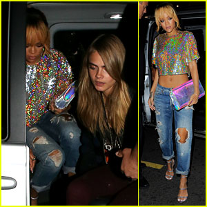 Rihanna & Cara Delevingne: Late Night London Ladies!