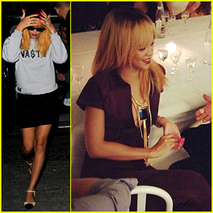 Rihanna: Dinner with Azzedine Alaia in Belgium!