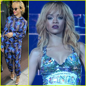 Rihanna Hangs with Cara Delevingne Before London Concert