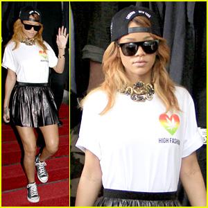 Rihanna: 'High Fashion' in Amsterdam!