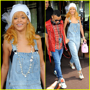 Rihanna Leaves Hotel Hand in Hand with Brother Rajad
