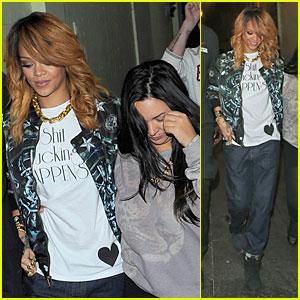 Rihanna: Lillie's Bordello Nightclub with Jennifer Rosales!