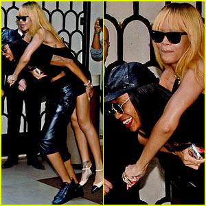 Rihanna: Piggy Back Ride in Paris!
