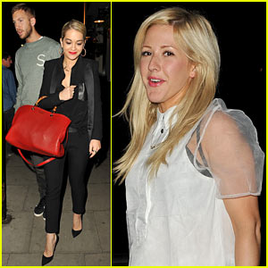 Rita Ora & Calvin Harris: Dinner with Ellie Goulding!