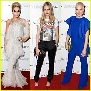 Rita Ora & Cara Delevingne - Glamour Women of the Year Awards 2013 Red Carpet