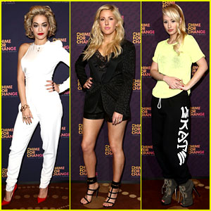 Rita Ora & Ellie Goulding: Chime for Change Media Room