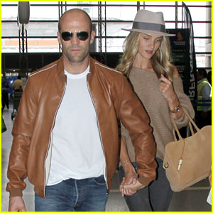 Rosie Huntington-Whiteley & Jason Statham Hold Hands at LAX
