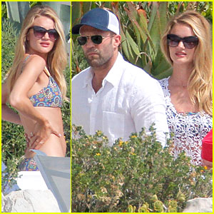 Rosie Huntington-Whiteley & Jason Statham: 'Viva la Madness' Bikini Reading!