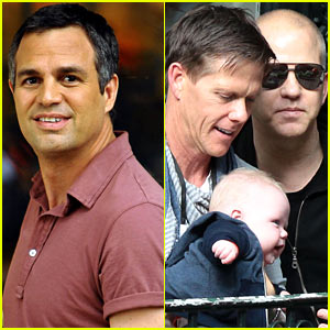 Mark Ruffalo Films 'Normal Heart', Ryan Murphy Gets Family Visit!