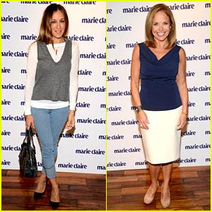 Sarah Jessica Parker & Katie Couric: 'Marie Claire' Event!