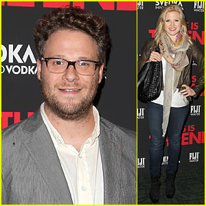 Seth Rogen & Megan Hilty: 'This Is The End' NYC Screening!