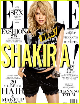 Shakira Covers 'Elle' July 2013