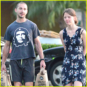 Shia LaBeouf Carries the Groceries for Mia Goth!