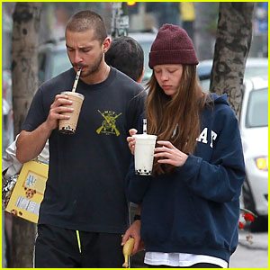 Shia LaBeouf & Mia Goth Crave Their Morning Coffee