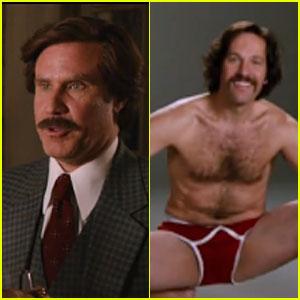 Shirtless Paul Rudd & Will Ferrell: 'Anchorman 2' Official Trailer!