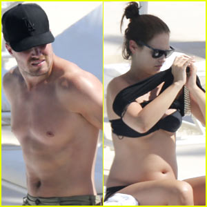 Shirtless Stephen Amell's Wife Cassandra Jean Debuts Bare Bikini Baby Bump!