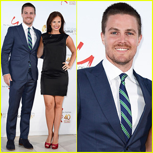 Stephen Amell & Pregnant Cassandra Jean: 'Young & the Restless' Anniversary Party!