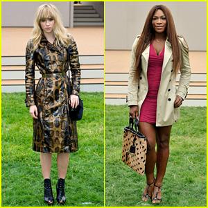 Suki Waterhouse & Serena Williams: Burberry Prorsum Show!