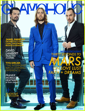 30 Seconds to Mars Covers 'Glamoholic' Magazine June 2013