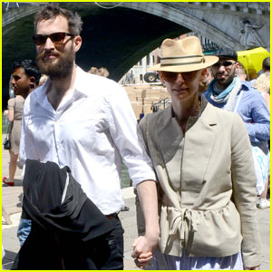 Tilda Swinton & Sandro Kopp Hold Hands in Venice