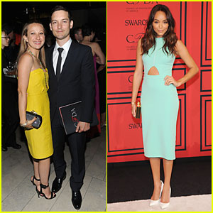 Tobey Maguire & Jennifer Meyer - CFDA Fashion Awards 2013 Red Carpet