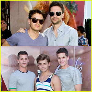 Topher Grace & Garrett Clayton: Just Jared's Summer Kick-Off Party Presented By McDonald's