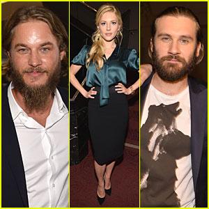 Travis Fimmel & Katheryn Winnick: 'Vikings' Screening Reception!