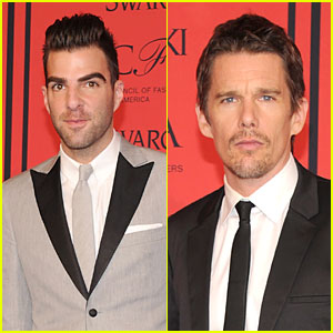 Zachary Quinto & Ethan Hawke - CFDA Fashion Awards 2013 Red Carpet