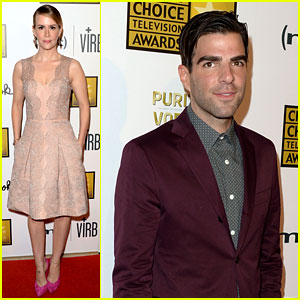 Zachary Quinto & Sarah Paulson - Critics' Choice TV Awards 2013