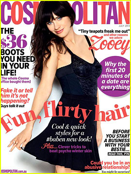 Zooey Deschanel Covers 'Cosmopolitan Australia' July 2013