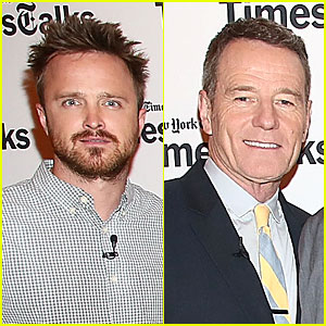 Aaron Paul & Bryan Cranston: 'Breaking Bad' Promo at TimesTalk!