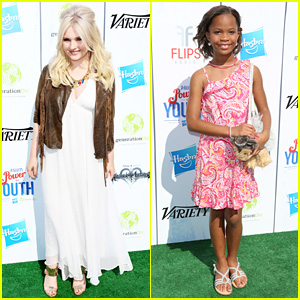 Abigail Breslin & Quvenzhane Wallis - Power of Youth 2013
