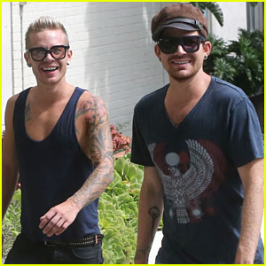 Adam Lambert Steps Out with Ex Sauli Koskinen After Cory Monteith Condolence