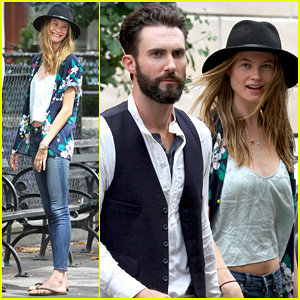 Adam Levine & Behati Prinsloo: 'Song' Lunch Break Duo!