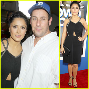 Adam Sandler & Salma Hayek: 'Grown Ups 2' NYC Premiere