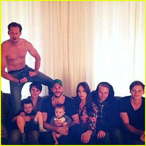 Alexander Skarsgard: Shirtless in Family Portrait!