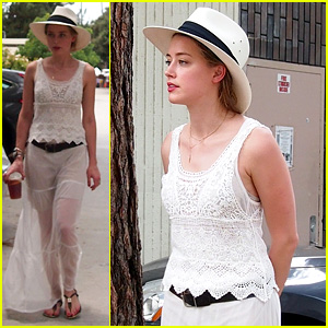 Amber Heard Back in L.A. After Moscow Trip with Johnny Depp