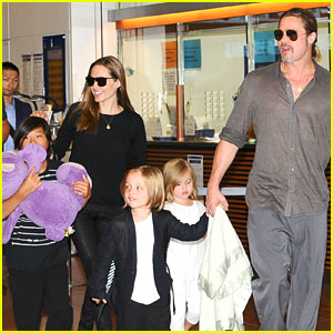 Brad Pitt & Angelina Jolie: Japan Arrival after Maddox's iPad Theft