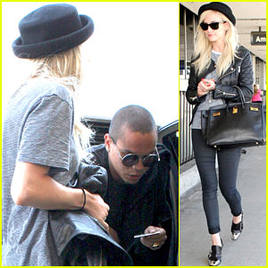 Ashlee Simpson & Evan Ross Travel Together at LAX